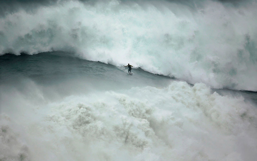 Riding Huge Wave, Portugal Photography By: Rafael Marchante